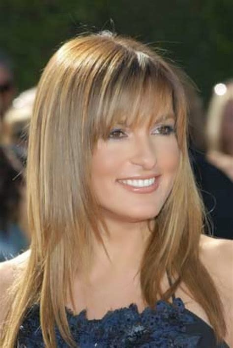 haircuts with bangs photos effortless and elegant long layered haircuts with bangs