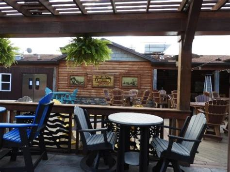 Log Cabin Tavern by Outdoor Seating Picture Of Log Cabin Tavern Liberty