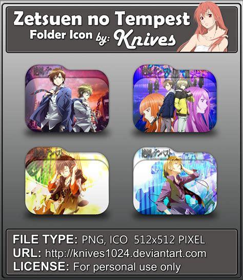 theme windows 7 zetsuen no tempest zetsuen no tempest anime folder icons by knive by