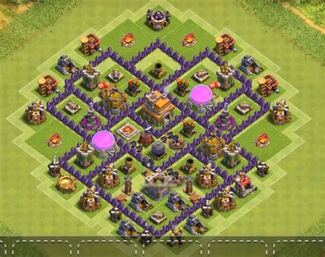 layout of coc th7 12 best town hall 7 hybrid bases 2018 new 3 air defenses