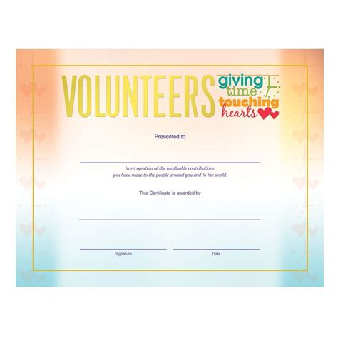 sle volunteer certificate template volunteer appreciation certificate volunteers giving time