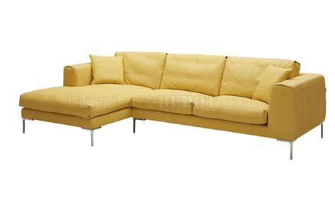 Yellow Sectional Sofa Soleil Sectional Sofa In Yellow Premium Leather By J M