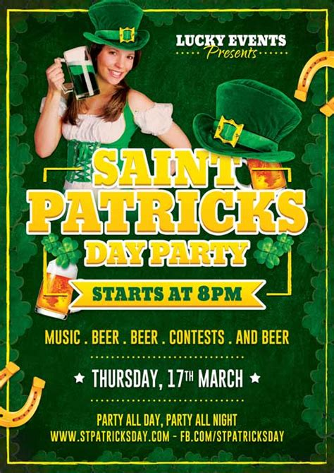 st paddy s day free flyer template free flyer psd design template
