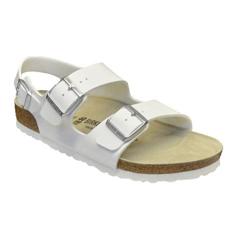 birkenstock white sandals birkenstock birkenstock 034731 birko flor nubuck