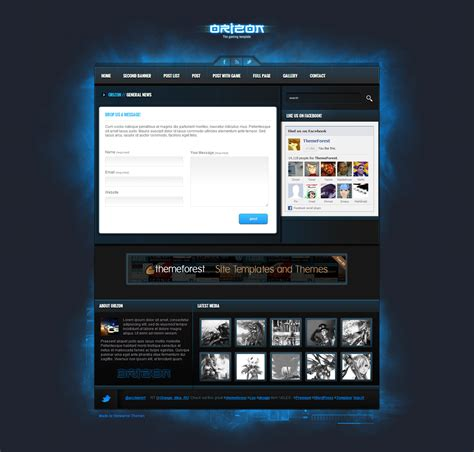 best gaming templates orizon the gaming template html version by skywarrior
