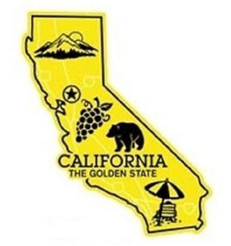 california map golden state california the golden state map fridge magnet