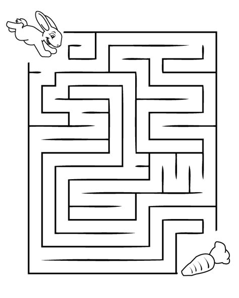 free coloring pages of easter maze