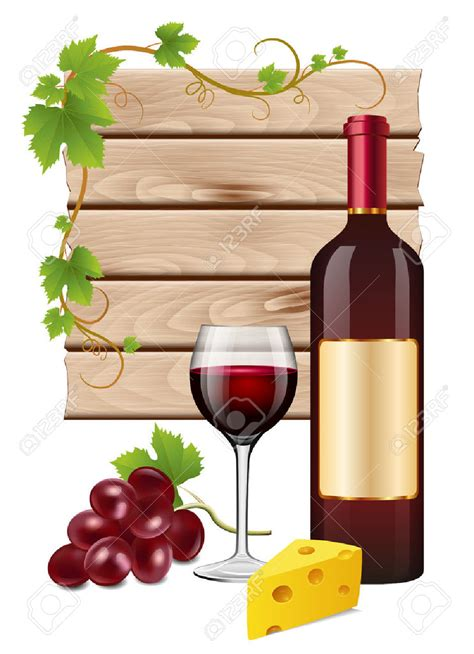 cartoon wine and cheese wine cheese clipart 64