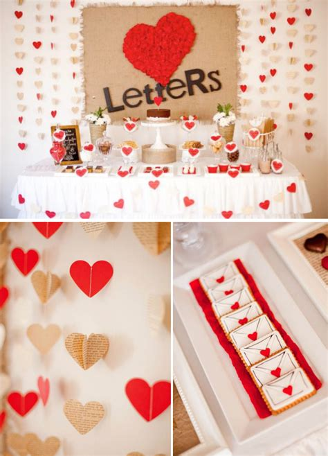 birthday decoration ideas for husband at home kara s party ideas love letters dessert table husband