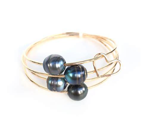 Tahitian Pearl Bangle Bracelet   Original   Kailua Jewelry