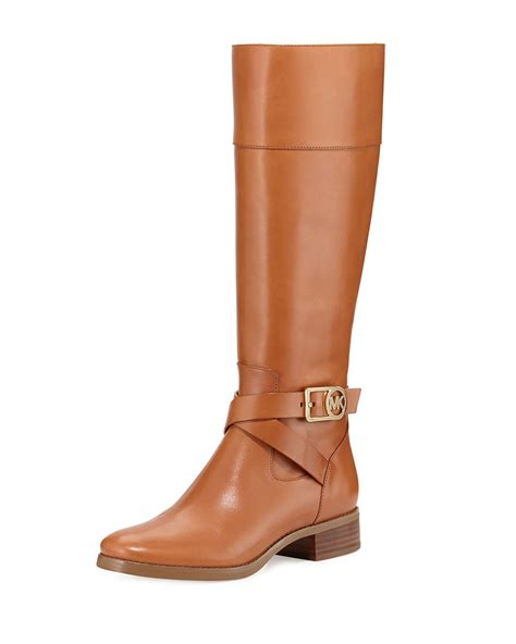 michael kors boots michael michael kors bryce leather boot in khaki
