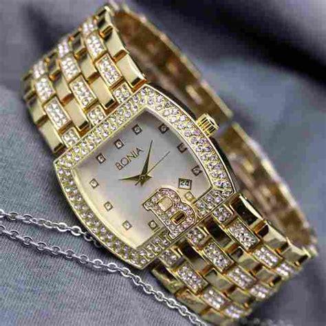 Jam Tangan Priawanita Merk Rolex Rantai Gold Daimond jam tangan bonia wanita tali rantai delta jam tangan