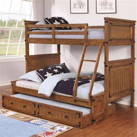 wooden bunk bed with trundle coronado bunk bed casual wooden bunk bed