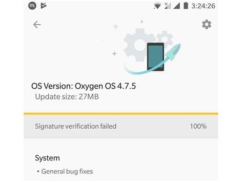 pattern password disable signature verification failed how to fix signature verification failed oneplus devices