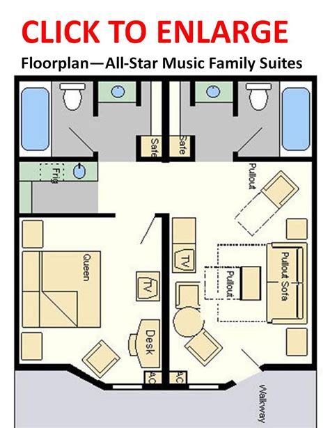 disney all star music family suite floor plan all star music suite floor plan thefloors co