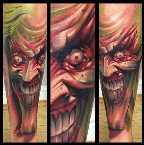 sick life tattoo sick joker done by bester at marked for