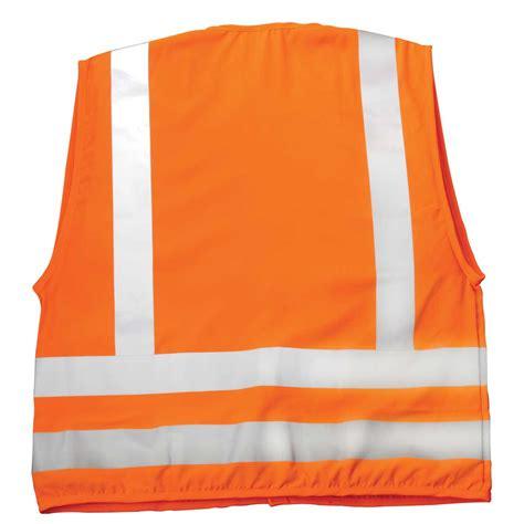orange vest ml kishigo ansi class 2 banded safety vest w silver reflective stripes large