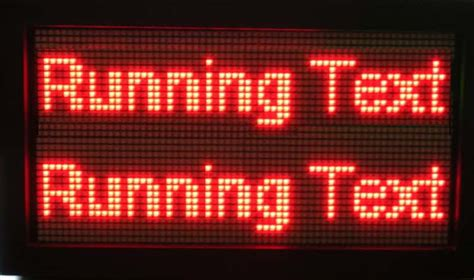 Lu Led Running Text global sarana mandiri lung running text led