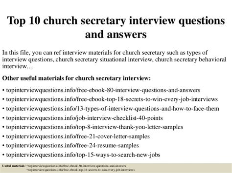 top 10 church secretary interview questions and answers