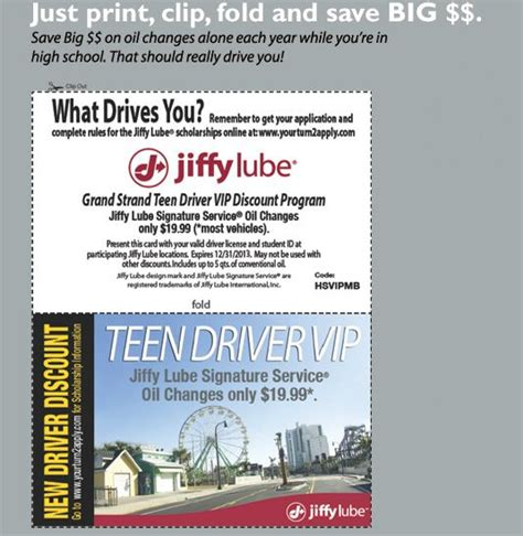 Www Apply Get Your Free Jiffy Lube Driver Vip Card And Save