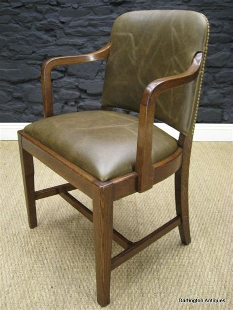 oak desk chair uk 1930 s oak leather office chair 78018