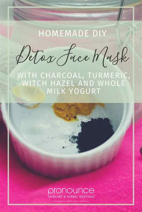 Detoxing Symptoms From Milk by Diy Detox Mask Made With Charcoal Turmeric Witch