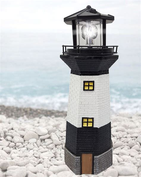 Solar Powered Lighthouse Rotating Led Garden Light House Light House Solar