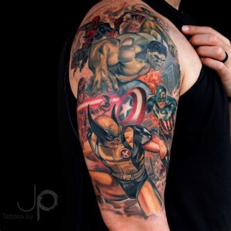 40 mightiest marvel comic tattoo designs for men and women