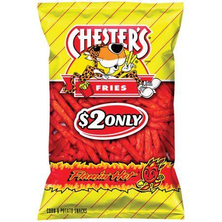 hot funyuns chips calories frito lay chesters flamin hot fries 7 oz walmart
