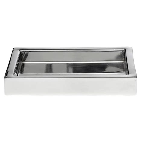 stainless steel bathroom tray roselli trading company modern bath 8 in amenity tray in