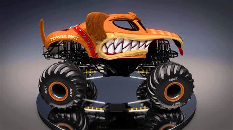new monster truck videos monster mutt new look for monster jam 2016 youtube