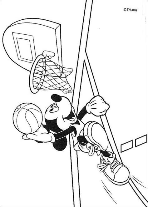 mickey mouse basketball coloring pages mickey mouse is playing basketball coloring pages