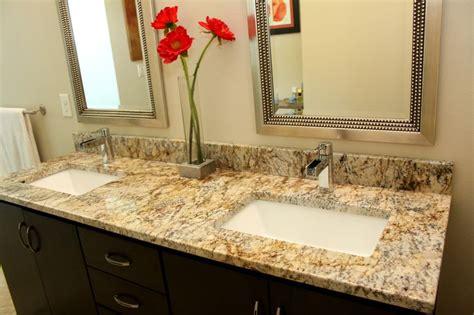 granite bathroom vanity with trench sinks pensacola fl