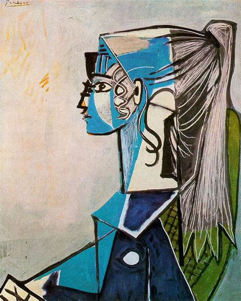 what style of did picasso use portrait of sylvette david in green chair pablo picasso