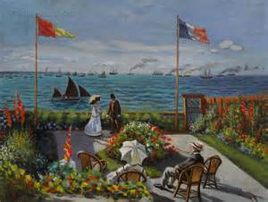 garden at sainte adresse claude monet paintings
