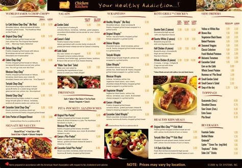 menu design kitchen kitchen amazing chicken kitchen menu with prices design