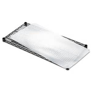 alera 174 shelf liners for wire shelving clear plastic 36w