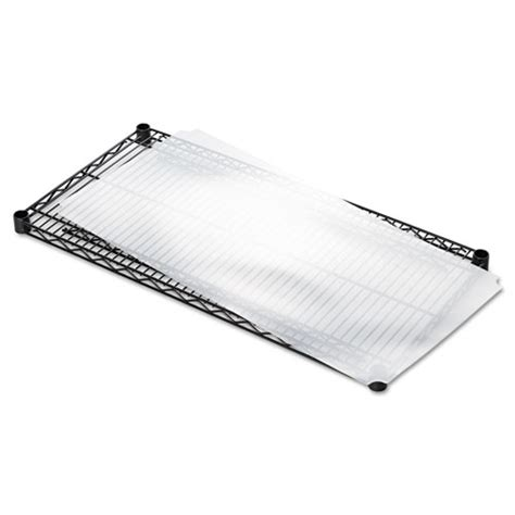 shelf liners for wire shelving clear plastic 36w x 18d