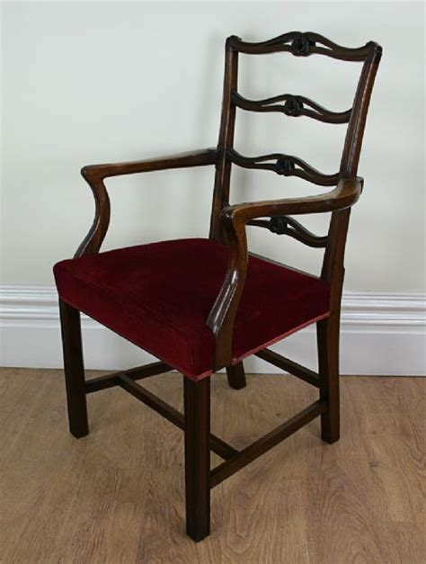 Chippendale Ribbon Back Dining Chairs by 8 Ribbon Back Chippendale Style Mahogany Dining Chairs C