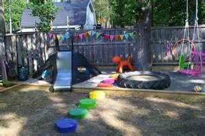 dear backyard tire playground