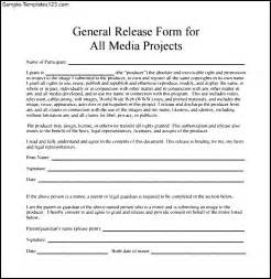 general release form template doc 12751650 image release form why you should a