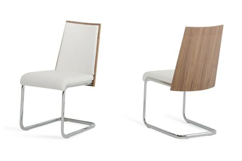 modern white walnut dining chair set of 2