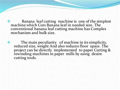 Paper Banana Leaf Machine - banana leaf cutting machine theleaf co