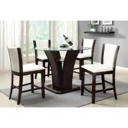 Contemporary Round Dining Room Sets by Furniture Of America Carlise Contemporary Round Counter