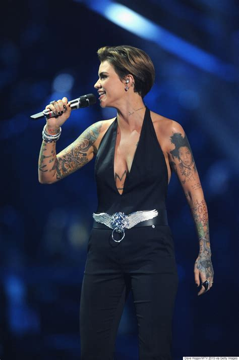 ruby rose slays every single at the 2015 mtv emas