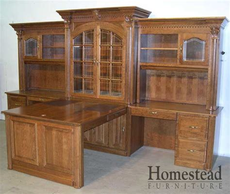 c 319 office desk with hutch custom hardwood