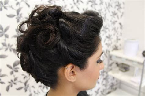 Asian Wedding Hairstyles by Asian Bridal Hair Style With Bun Braid And Backcombing