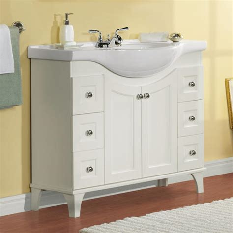 Bathroom Cabinets Menards Bathroom Vanities At Menards Pace King Series 24 Quot X 18 Quot Vanity With Drawers On Right