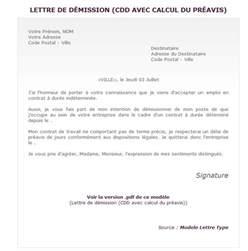 Exemple De Lettre De Demission Fin De Periode D Essai R 233 Diger Une Lettre De D 233 Mission Cdd Avec Calcul Du Pr 233 Avis