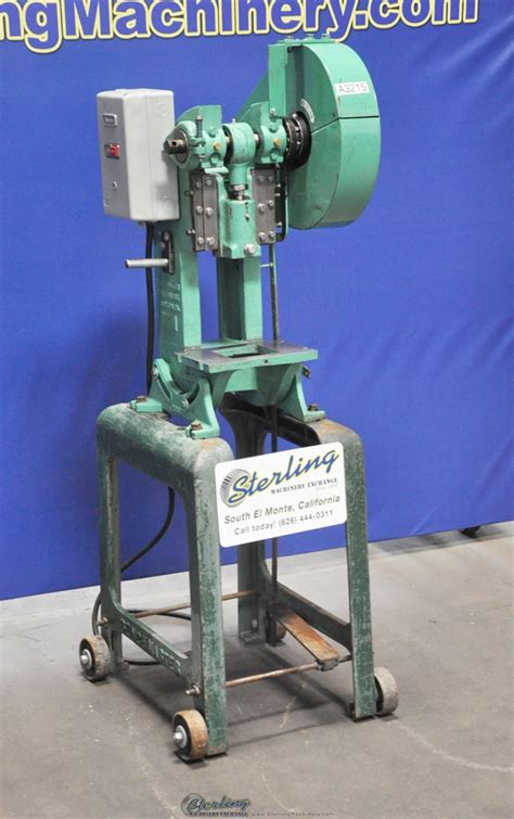bench master 5 ton x 1 quot used benchmaster punch press mdl 151e stand